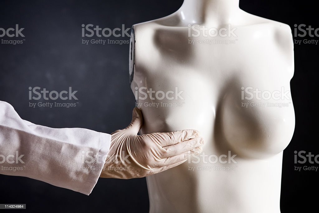Breast examination stock photo