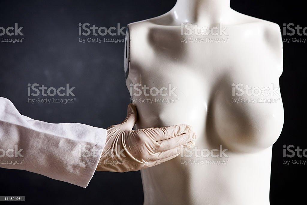 Breast examination stock photo