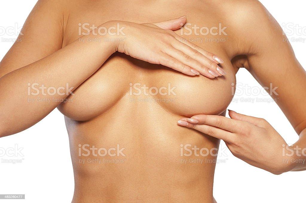 Breast examination. stock photo