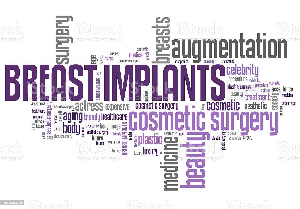 Breast implant stock photo