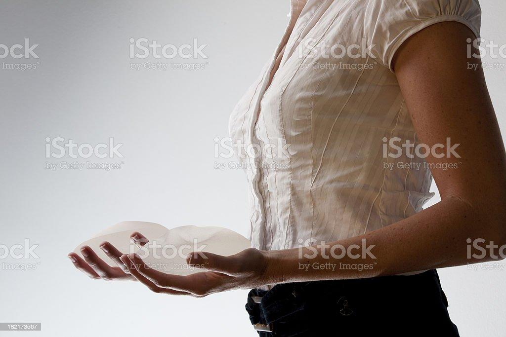 Breast implants royalty-free stock photo