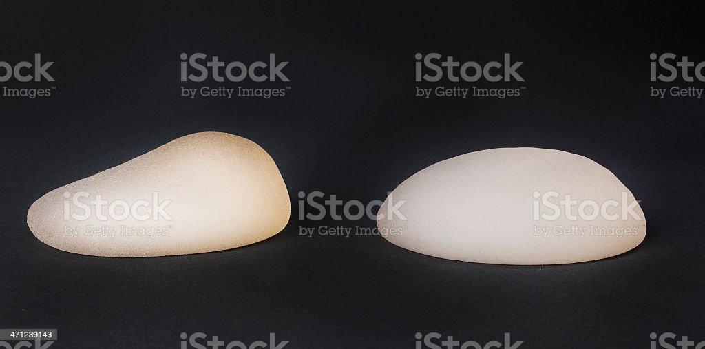 Breast implants stock photo