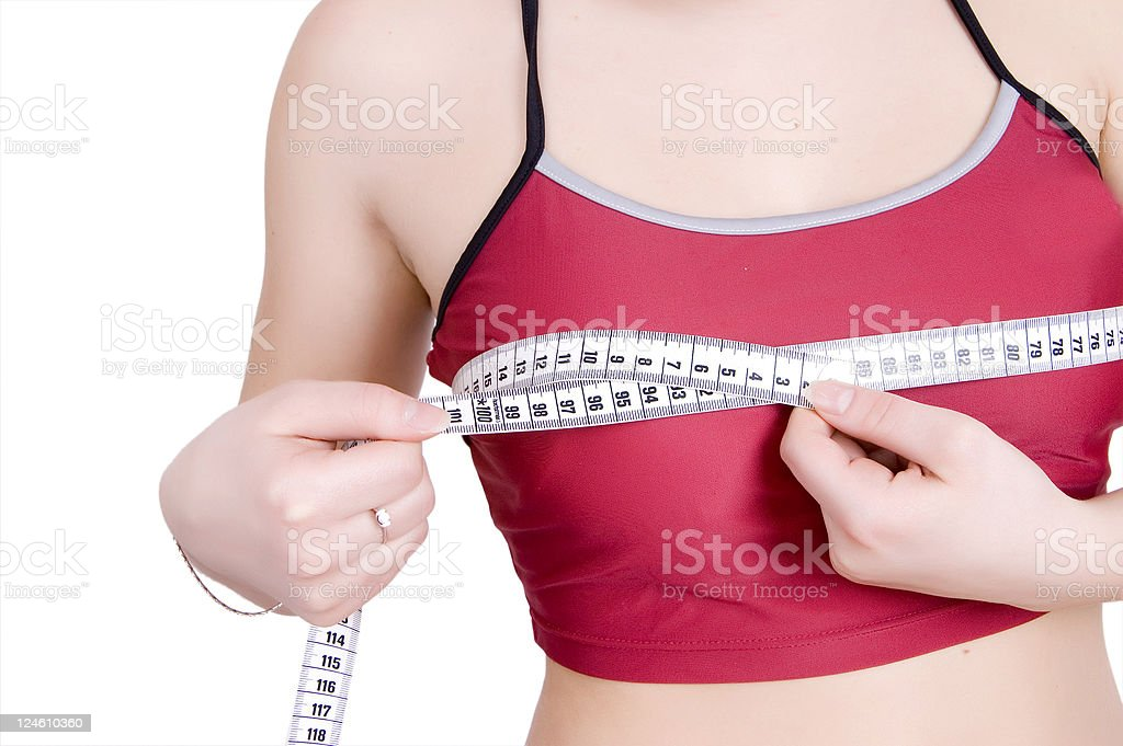 breast measure royalty-free stock photo