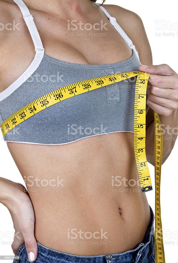 Breast measuring royalty-free stock photo