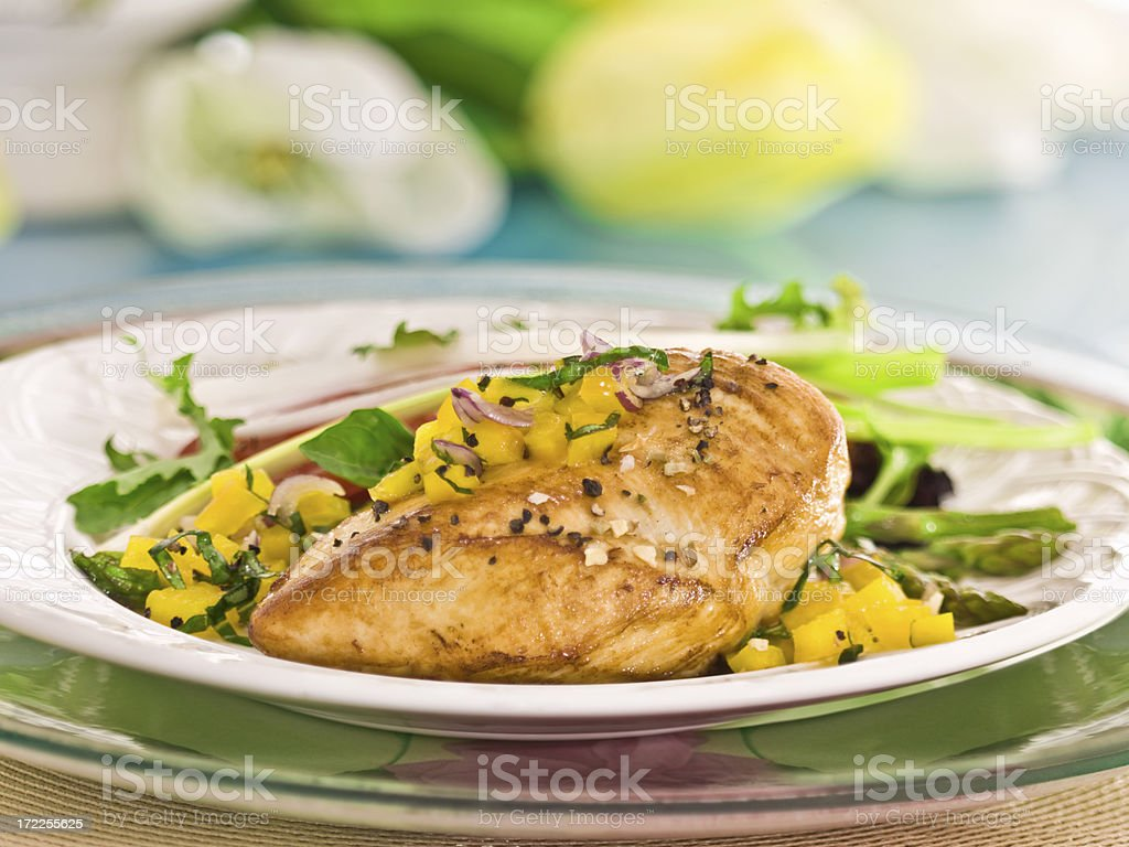 breast of chicken royalty-free stock photo