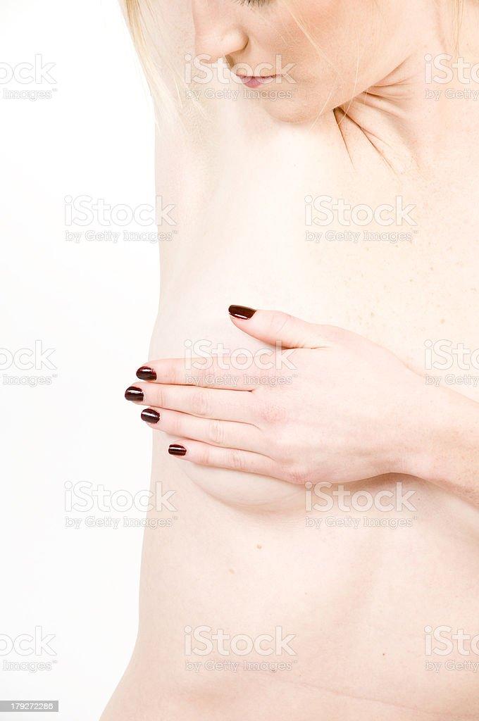 Breast Self-Exam royalty-free stock photo