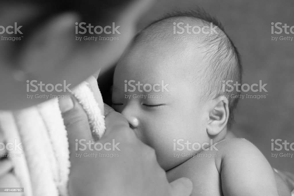 Breastfed stock photo