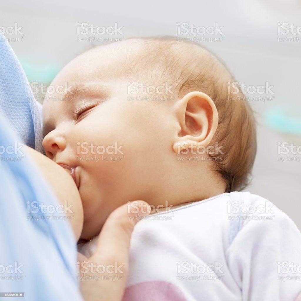 Breastfeeding portrait royalty-free stock photo