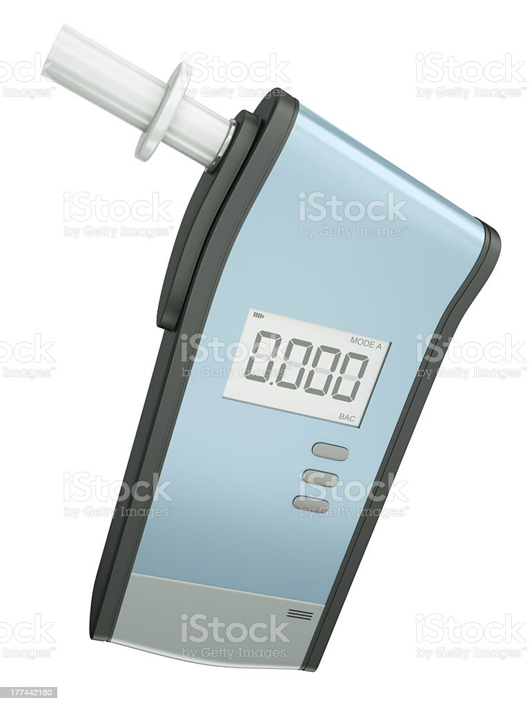Breath analyzer, alcoholometer on a white background royalty-free stock photo