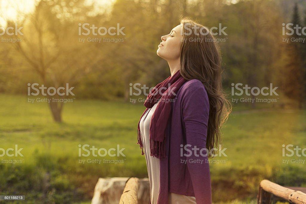 Breath of Fresh Air stock photo