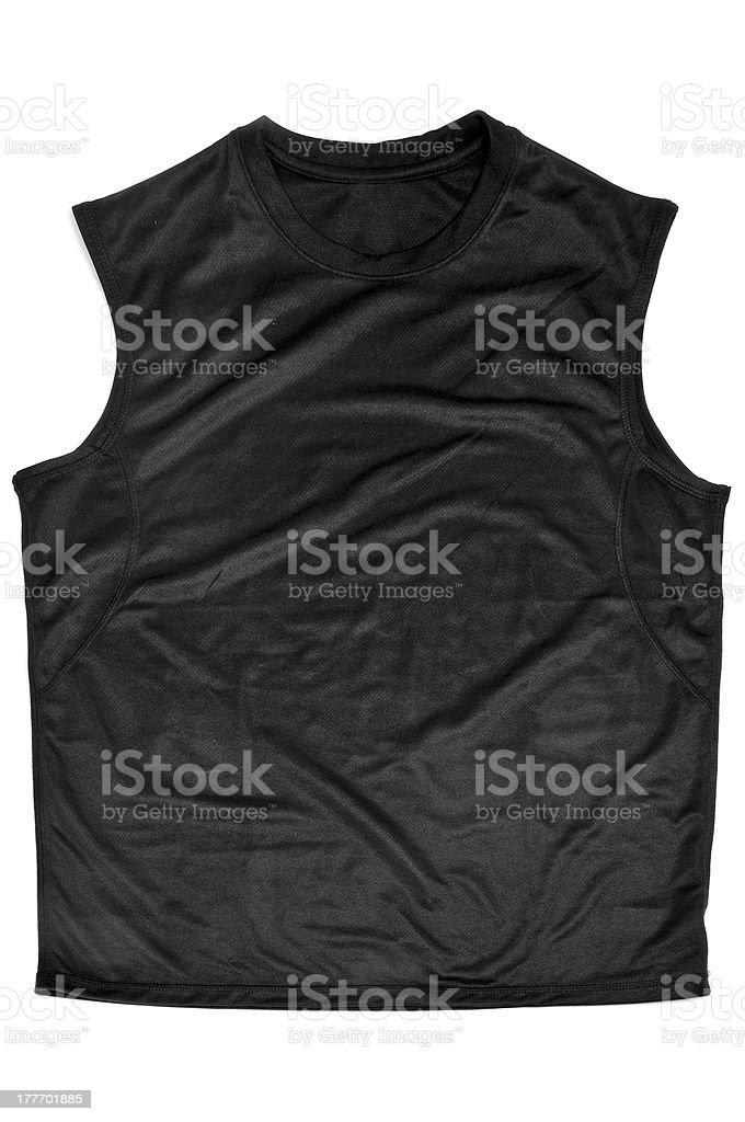 breathable polyester sports sleeveless T-shirt stock photo