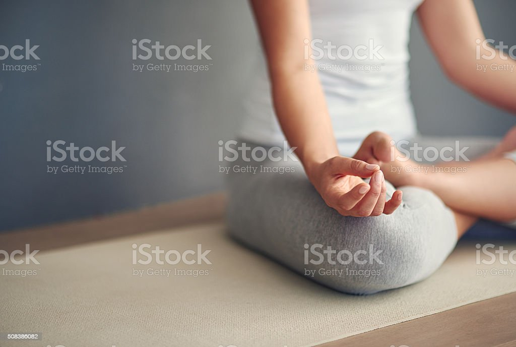 Breathe and release anything that does not serve you stock photo