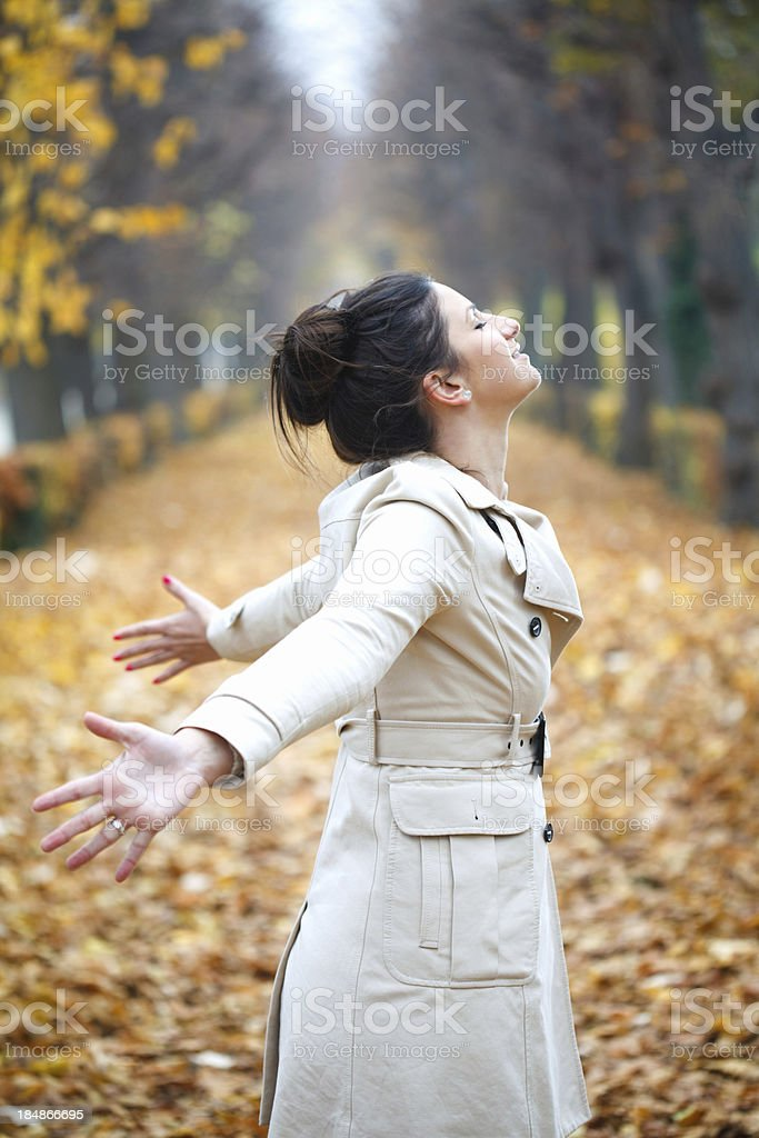 Breathing fresh air royalty-free stock photo