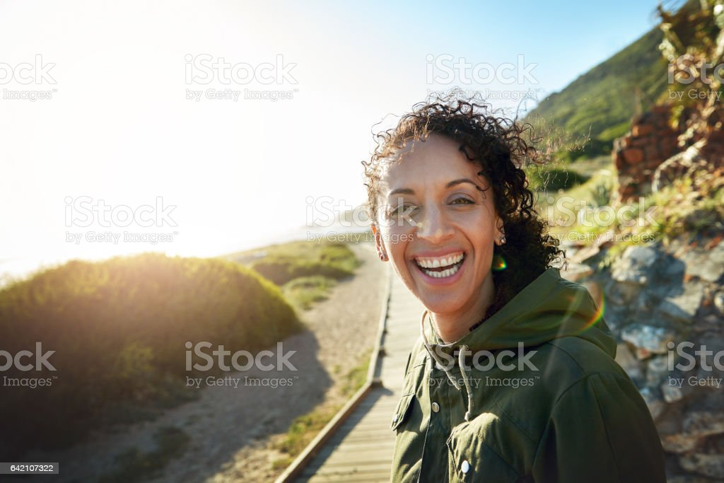 Breathing in fresh air is good for you stock photo
