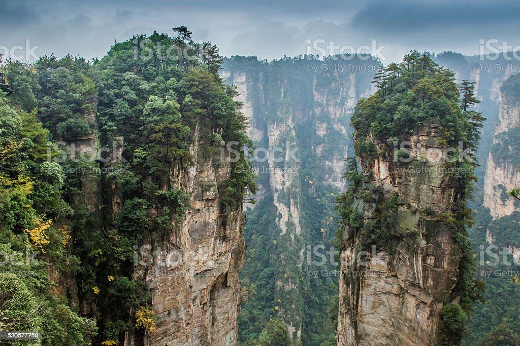 Breathtaking landscape in Zhangjiajie, China stock photo
