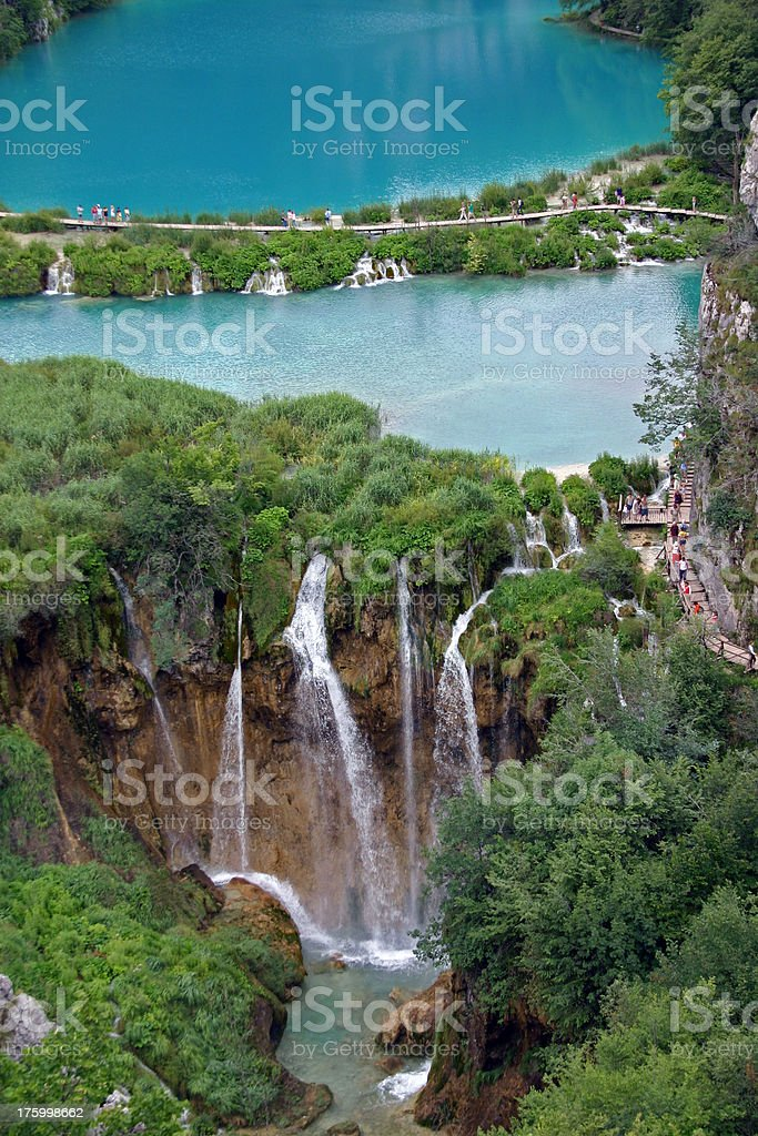 Breathtaking view in the Plitvice Lakes National Park royalty-free stock photo