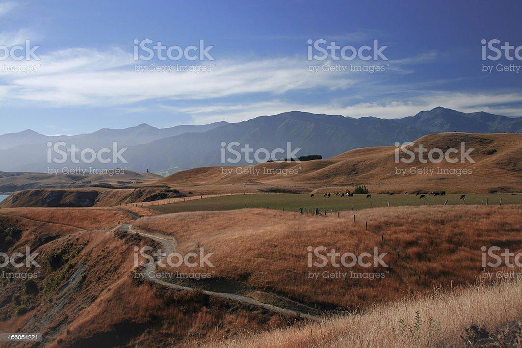 Breathtaking view of Kaikoura, New Zealand royalty-free stock photo