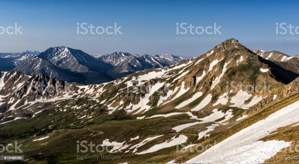 Breathtaking views, Colorado Rocky Mountains.  Sawatch Range, near Leadville stock photo