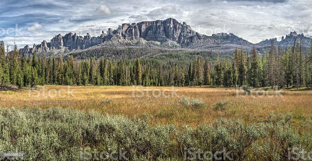 Breccia Cliffs Wyoming stock photo