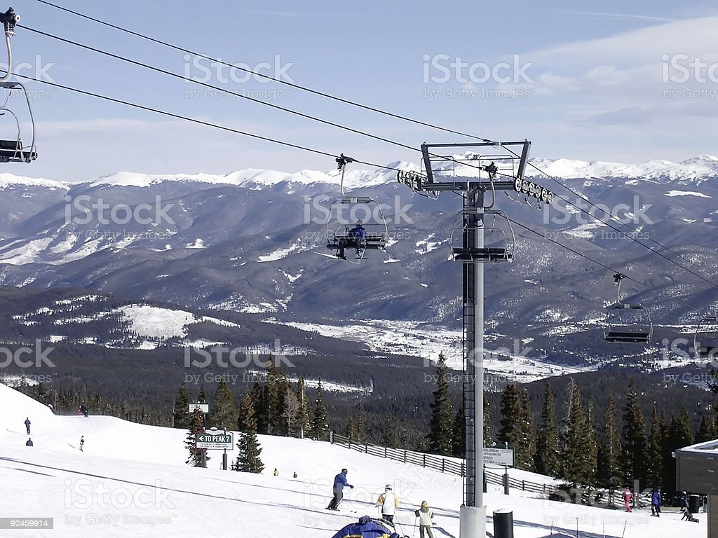 Breckenridge Chairlift stock photo