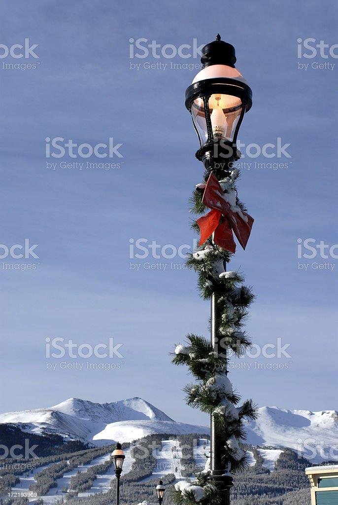 Breckenridge Lamp Post stock photo
