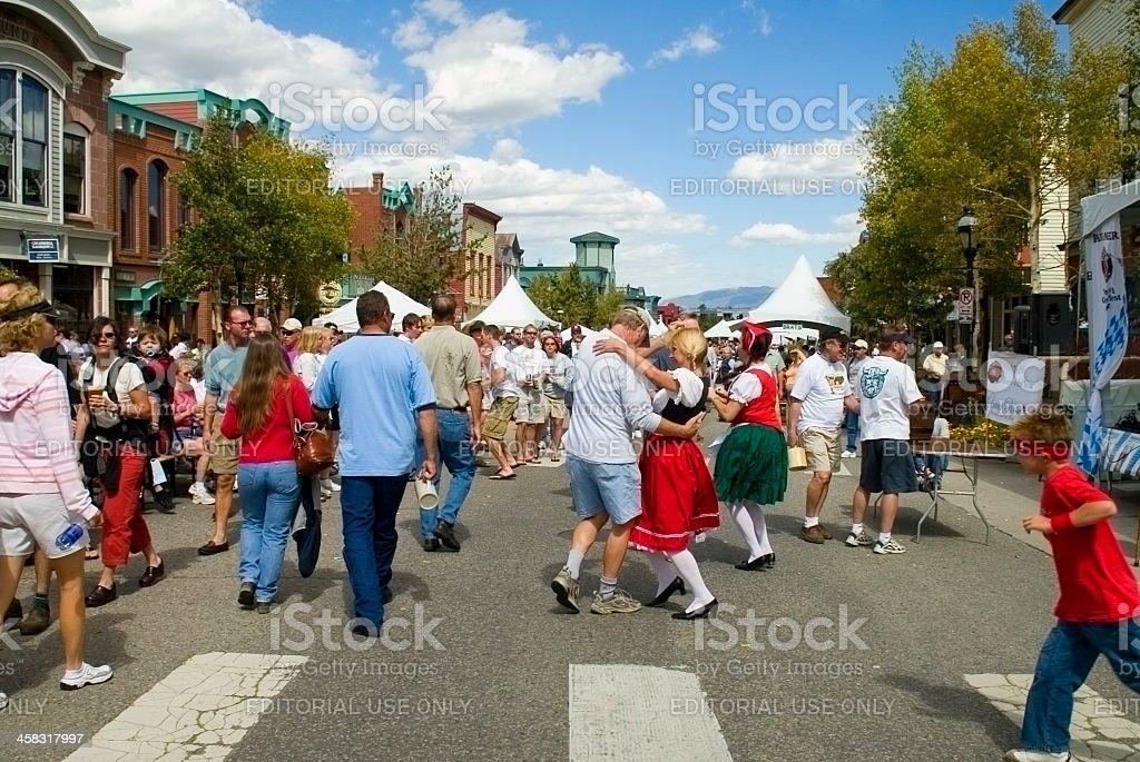 Breckenridge Octoberfest stock photo