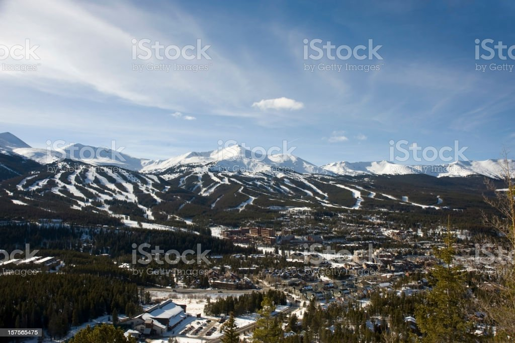 Breckenridge Ski Resort stock photo