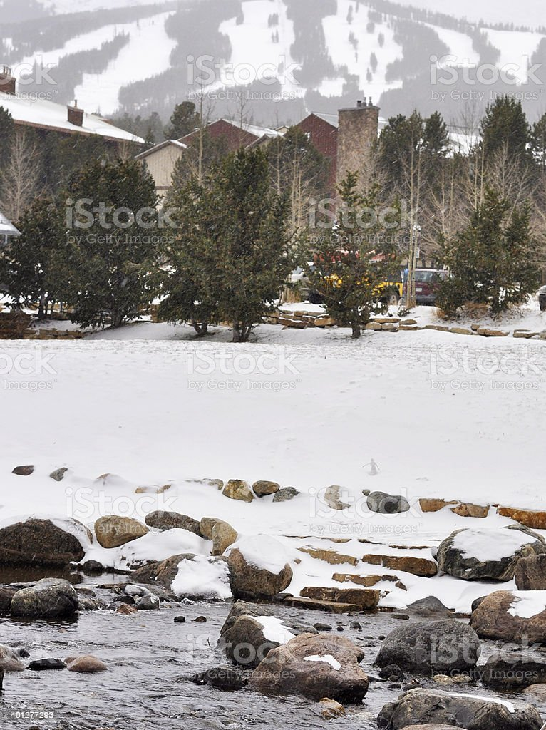 Breckenridge Ski Slopes royalty-free stock photo