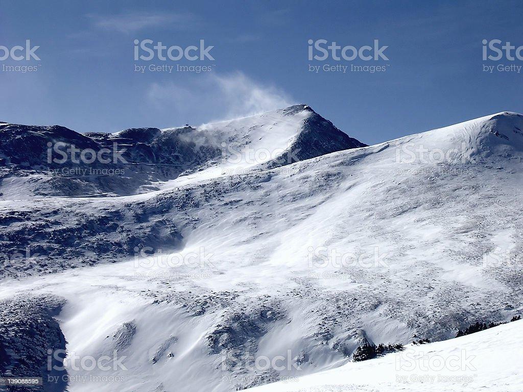 Breckenridge Windy Peak royalty-free stock photo