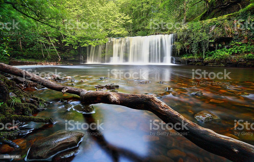 Brecon Beacon Waterfall stock photo