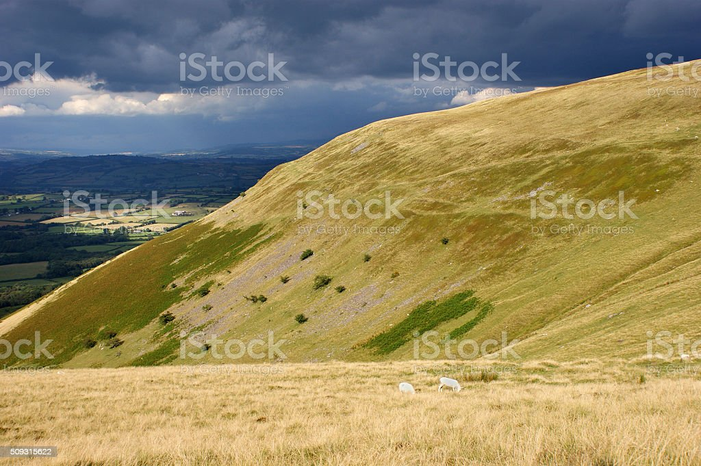 Brecon Beacons Dark Sky 01 stock photo