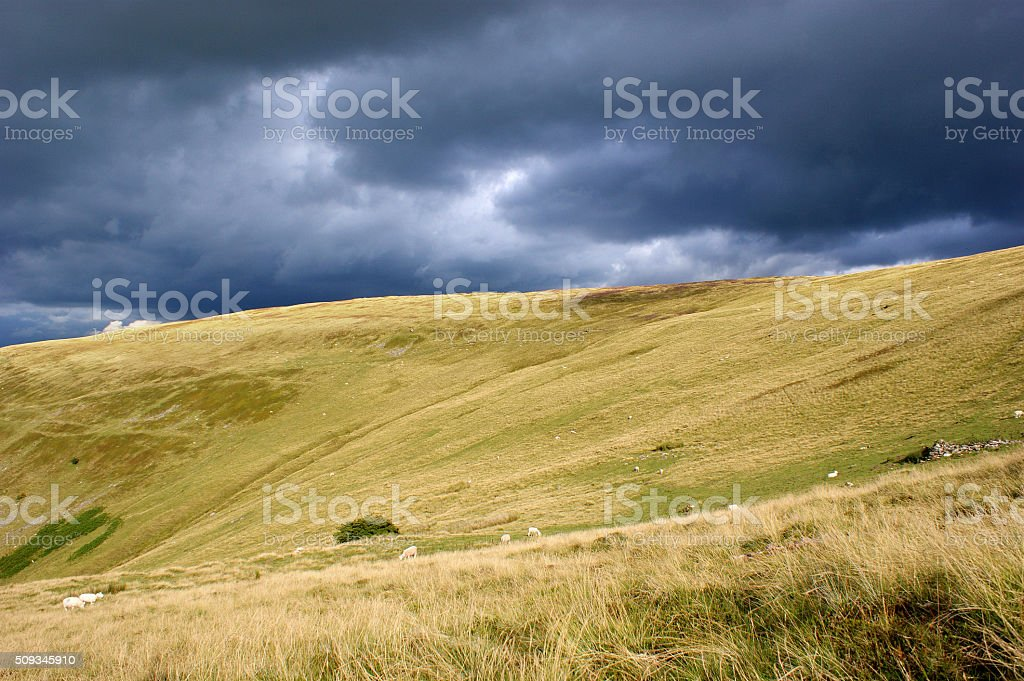 Brecon Beacons Dark Sky 02 stock photo