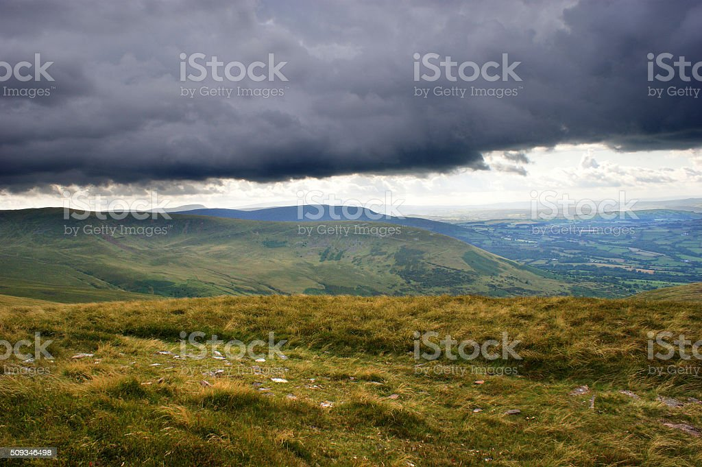 Brecon Beacons Dark Sky 03 stock photo