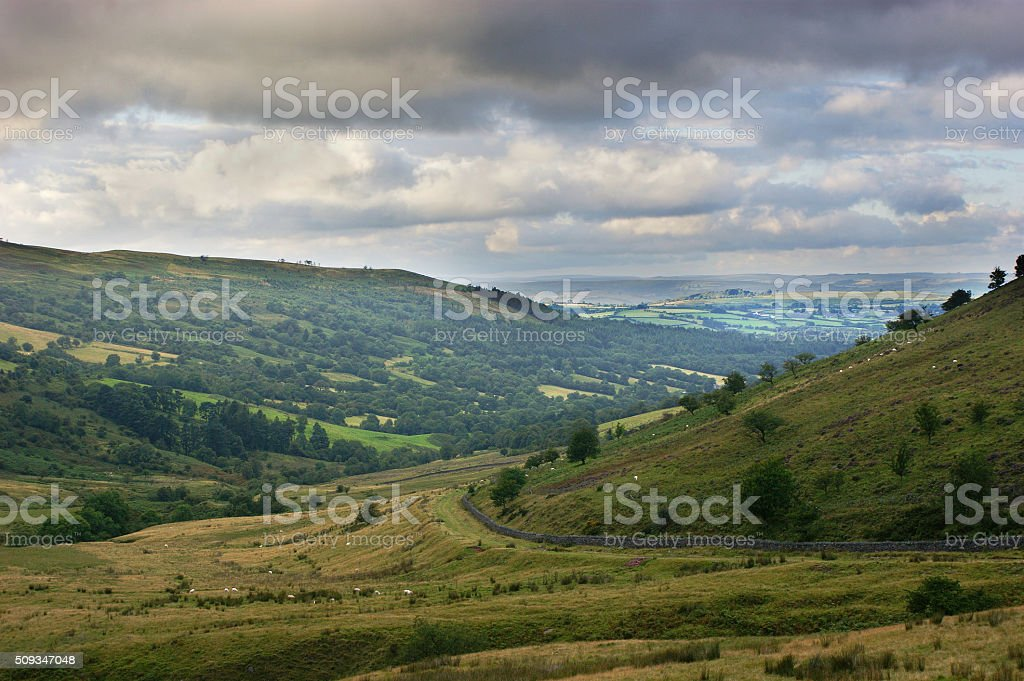 Brecon Beacons Dry Stone Wall stock photo