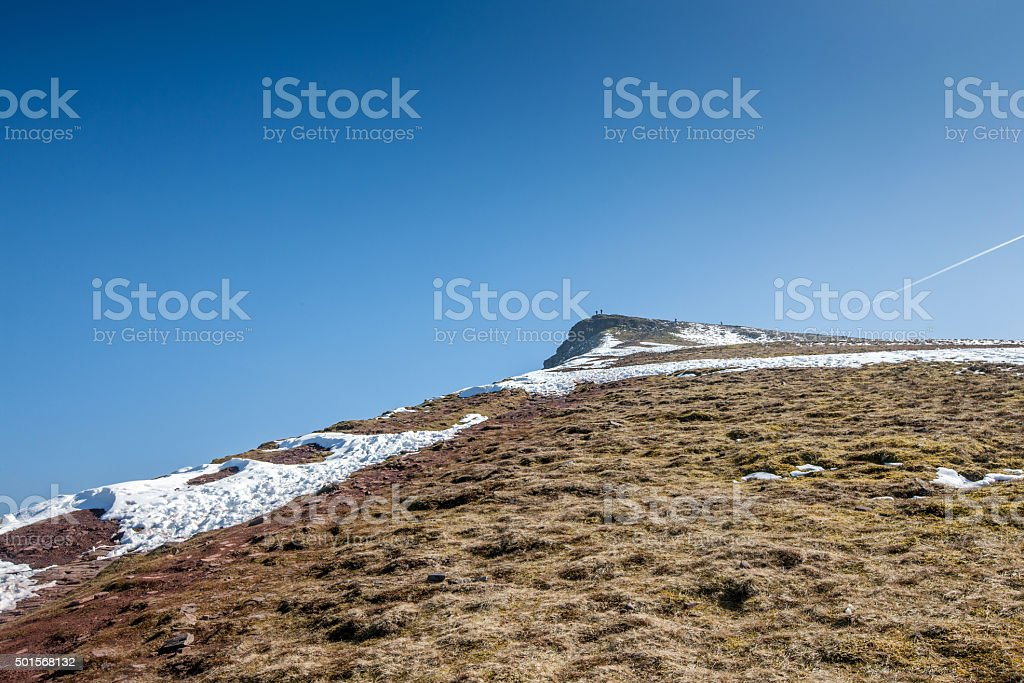 Brecon Beacons highest point at Penyfan stock photo