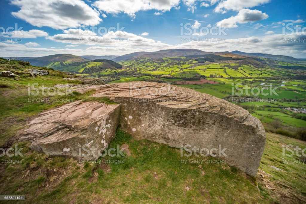 Brecon Beacons landscape stock photo
