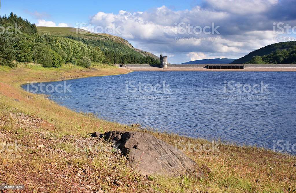 Brecon Beacons, Llwyn-on Reservoir Dam stock photo