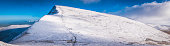 Brecon Beacons National Park Cribyn snowy summit winter panorama Wales