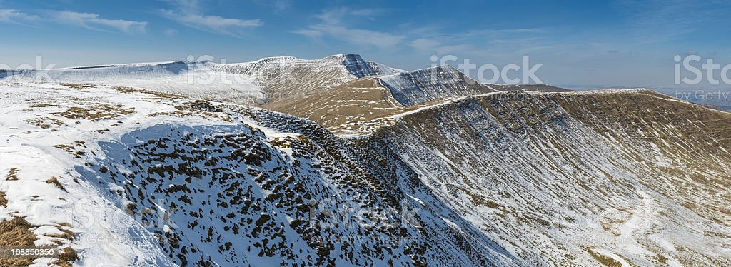 Brecon Beacons National Park Pen y Fan mountain panorama Wales stock photo