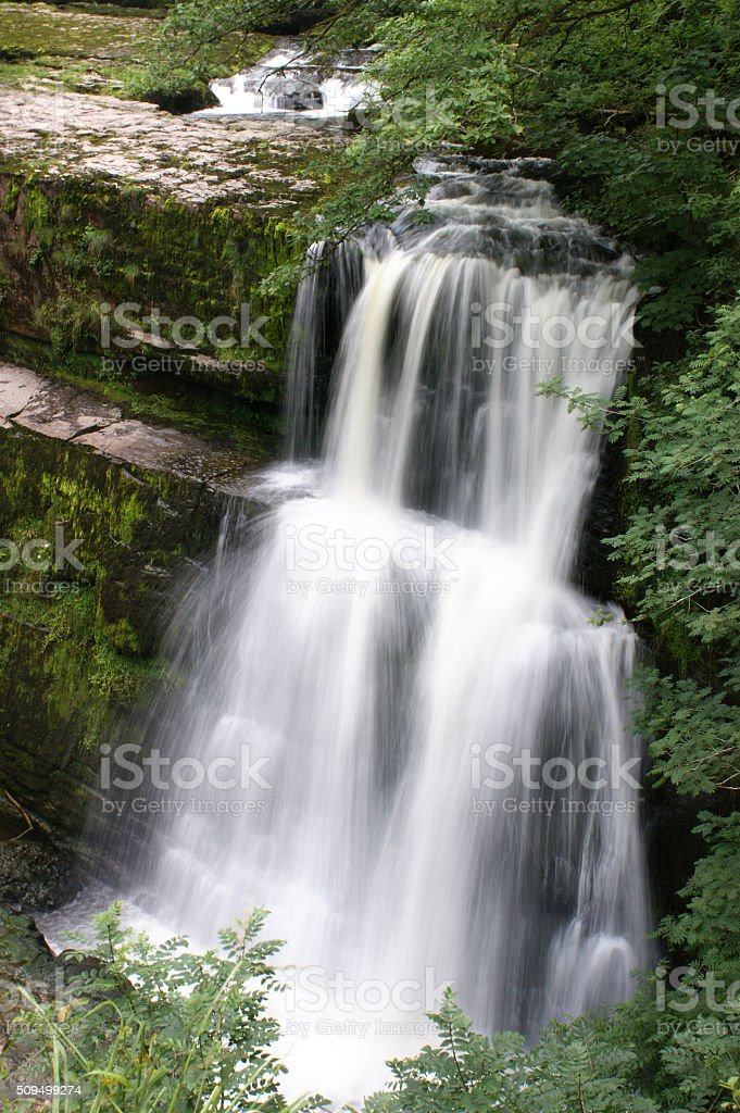 Brecon Beacons, Sgwd Clun-Gwyn 01 stock photo