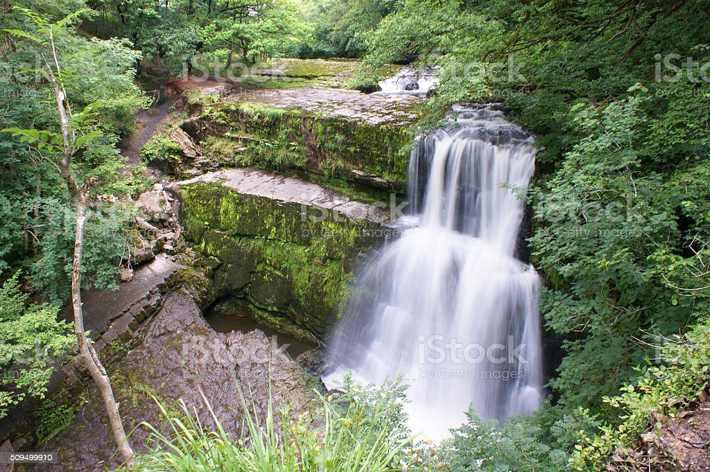 Brecon Beacons, Sgwd Clun-Gwyn 02 stock photo