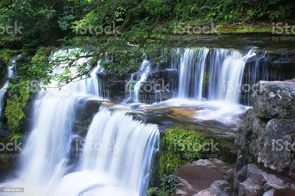 Brecon Beacons, Sgwd Isaf Clun-Gwyn 02 stock photo