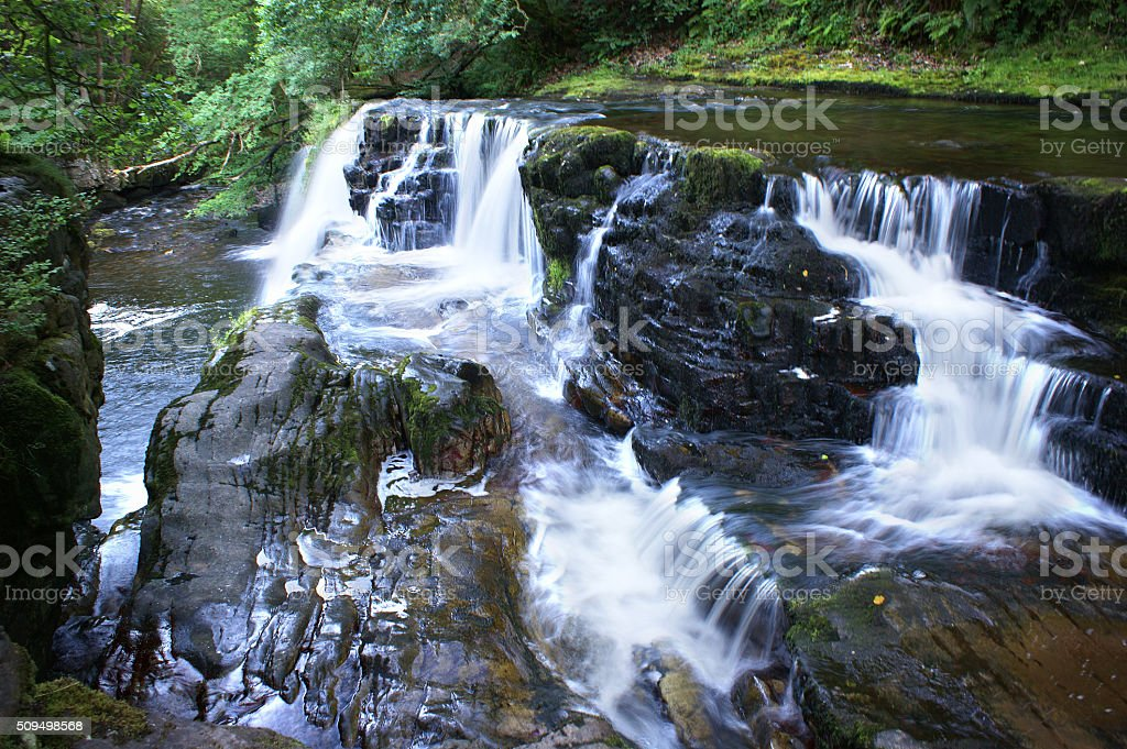 Brecon Beacons, Sgwd Isaf Clun-Gwyn 03 stock photo