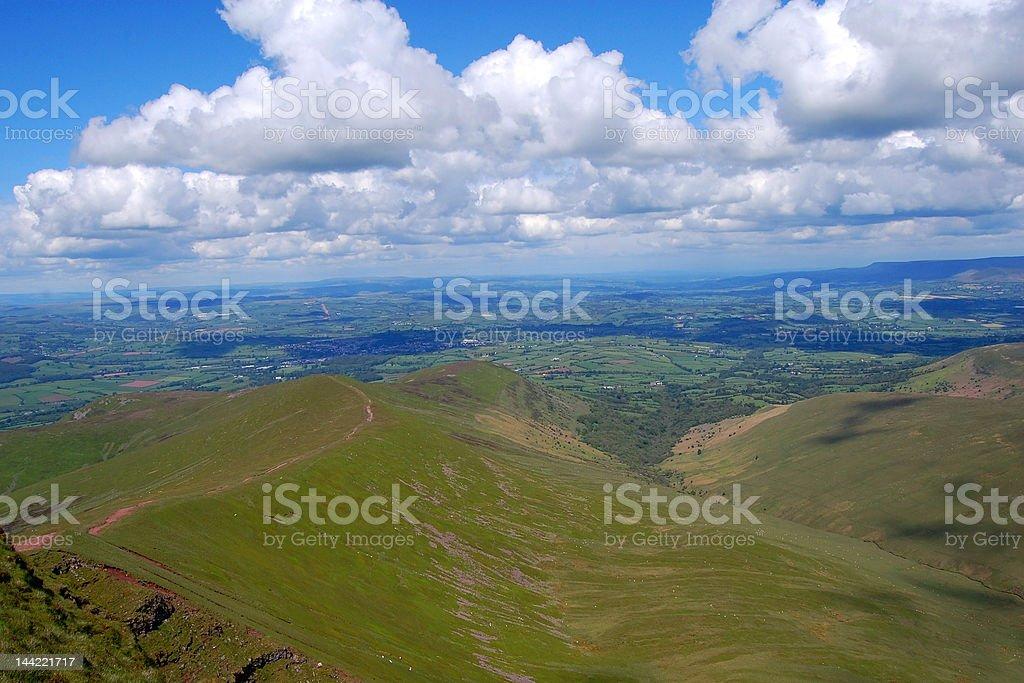 Brecon Beacons, South Wales stock photo