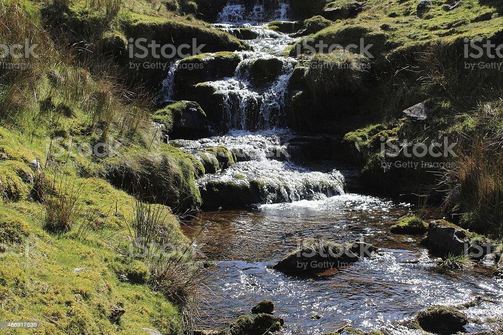 Brecon Beacons waterfalls stock photo