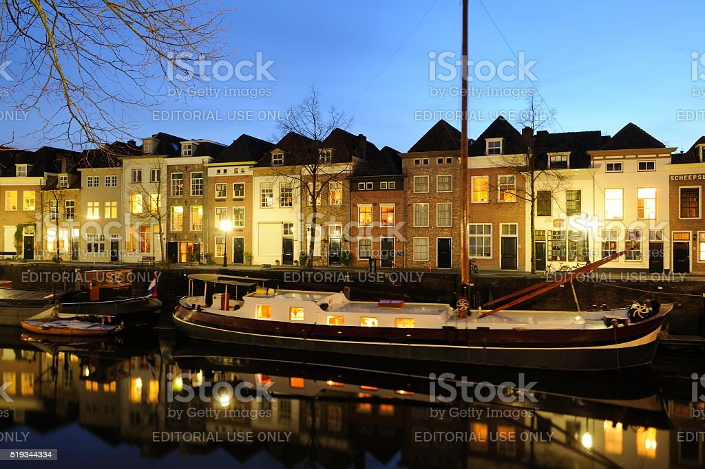 Brede Haven Canal in 's-Hertogenbosch stock photo