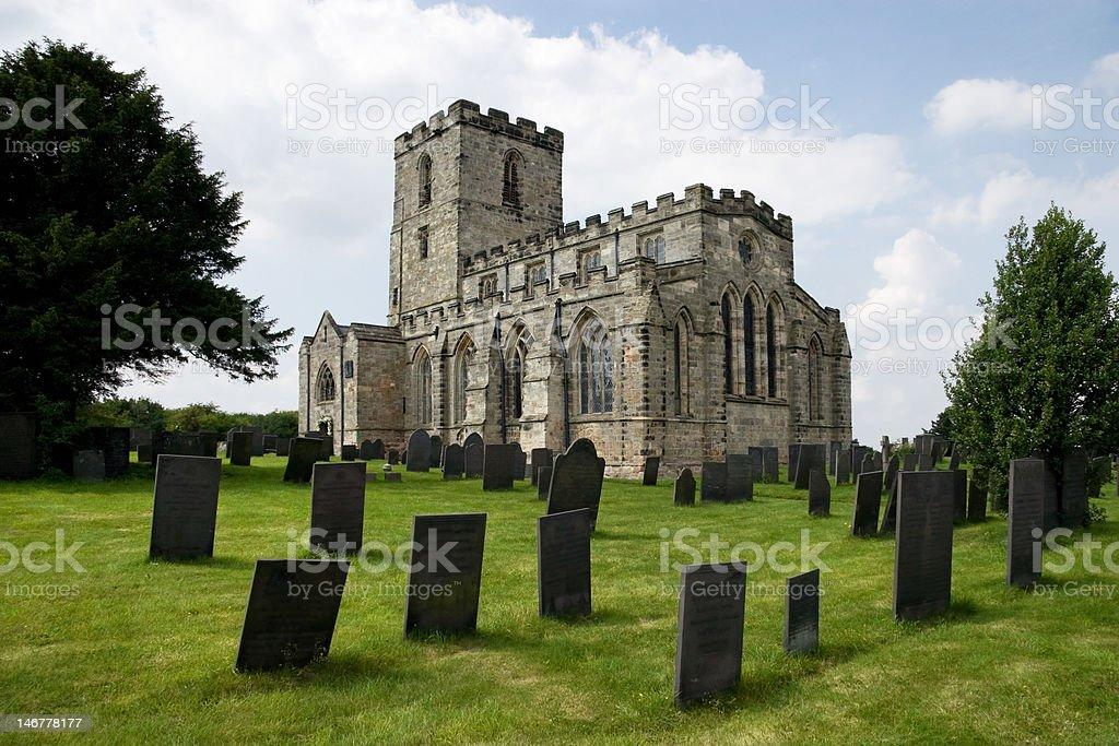 Breedon Priory iglesia foto de stock libre de derechos