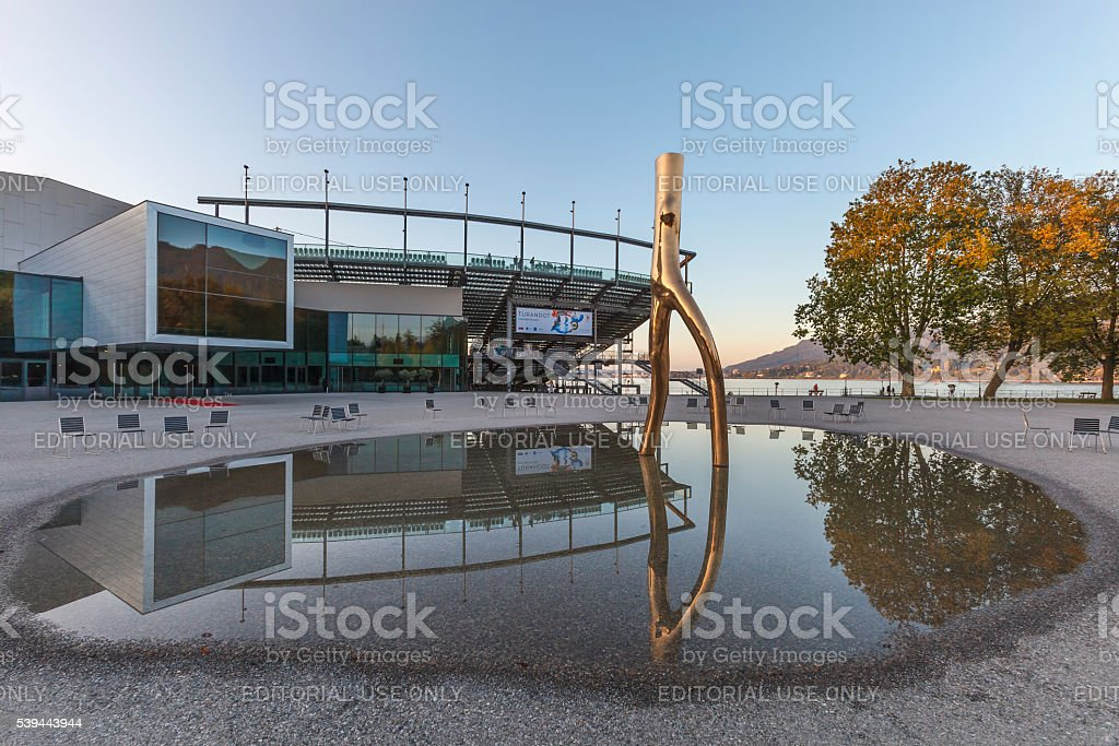 Bregenz, Opera House - Austria stock photo