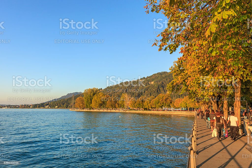 Bregenz, Promenade - Austria stock photo