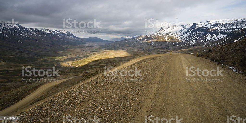 Breiðdalsheiði Mountain Pass, Iceland royalty-free stock photo